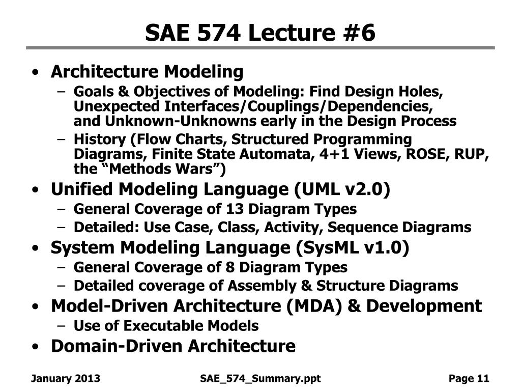 SAE 574 Lecture #6