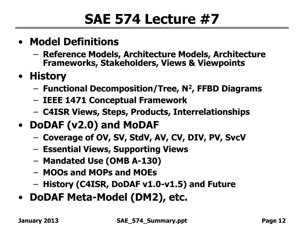 SAE 574 Lecture #7