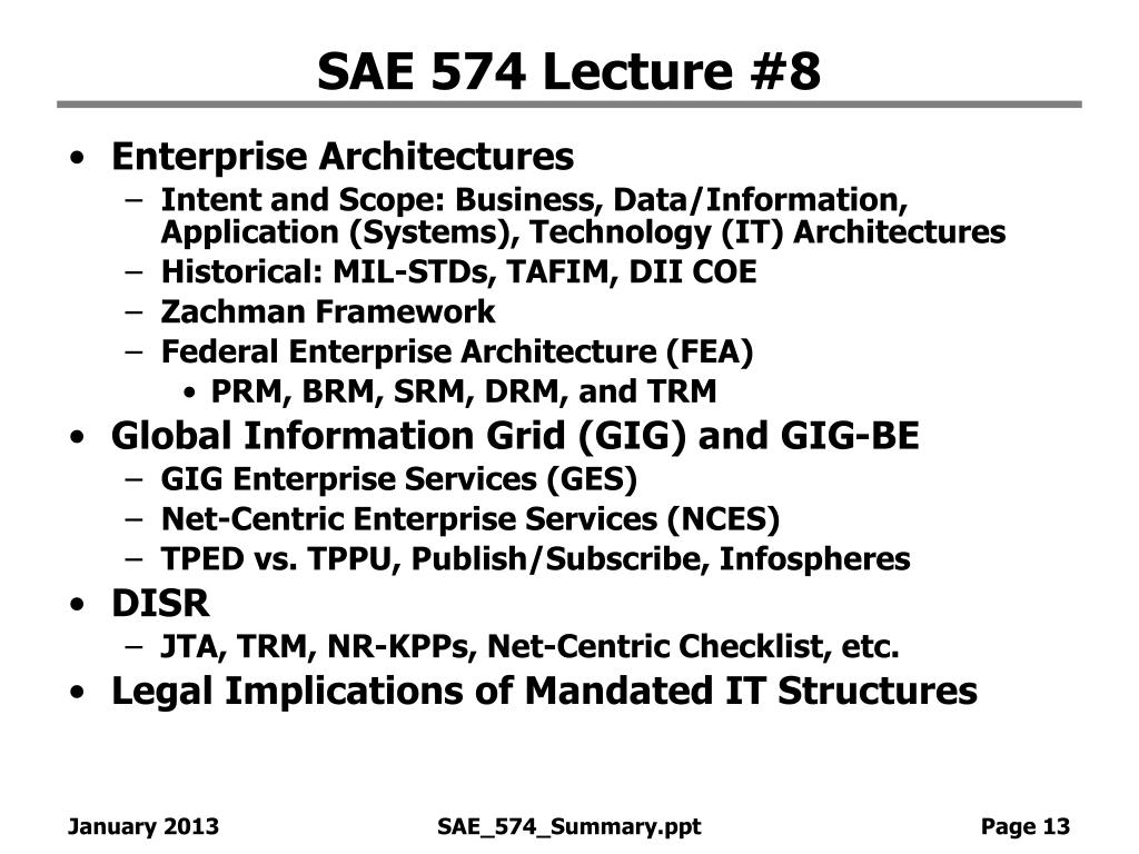 SAE 574 Lecture #8