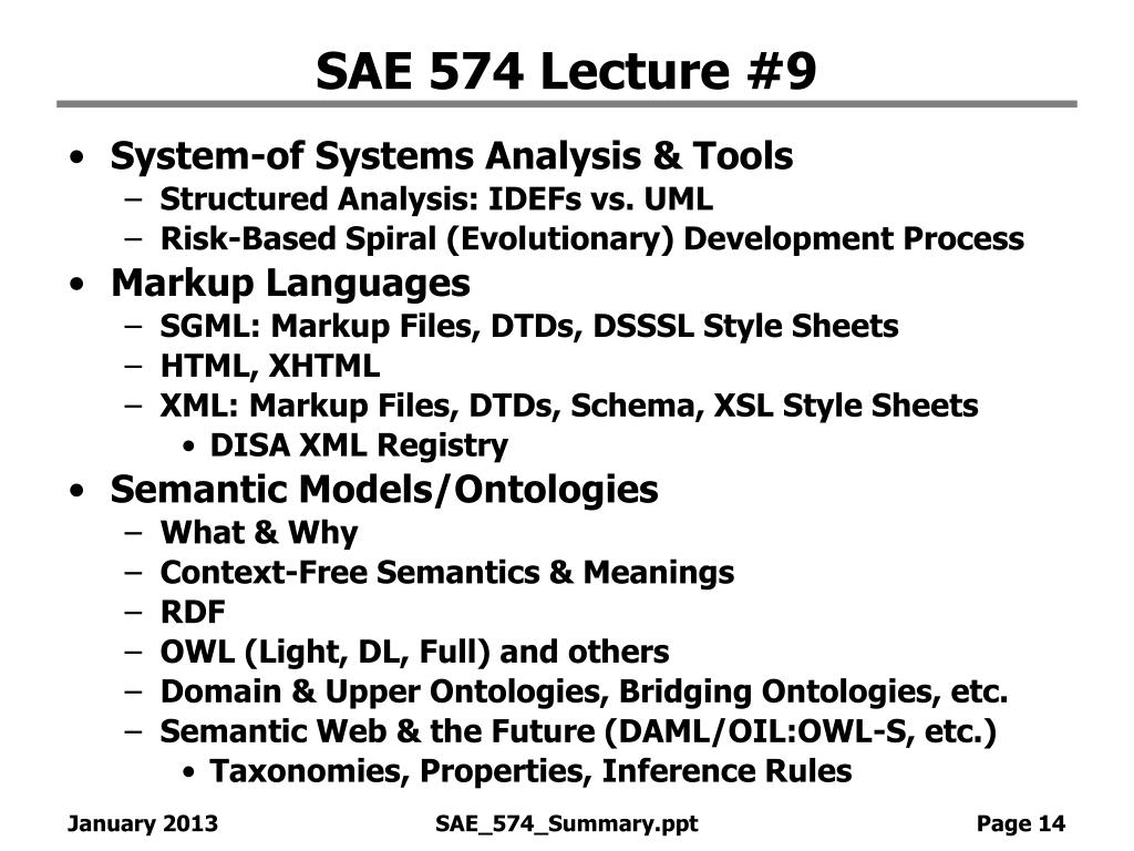 SAE 574 Lecture #9