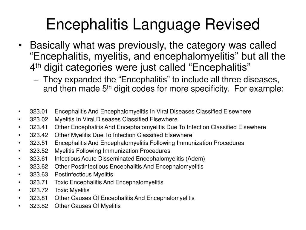 Encephalitis Language Revised