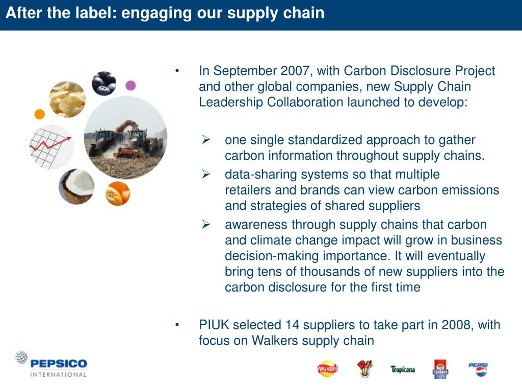 After the label: engaging our supply chain