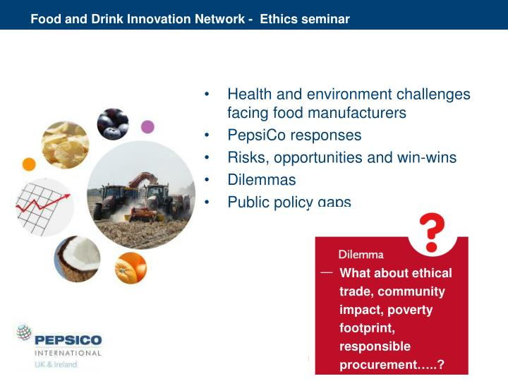 Food and Drink Innovation Network -  Ethics seminar