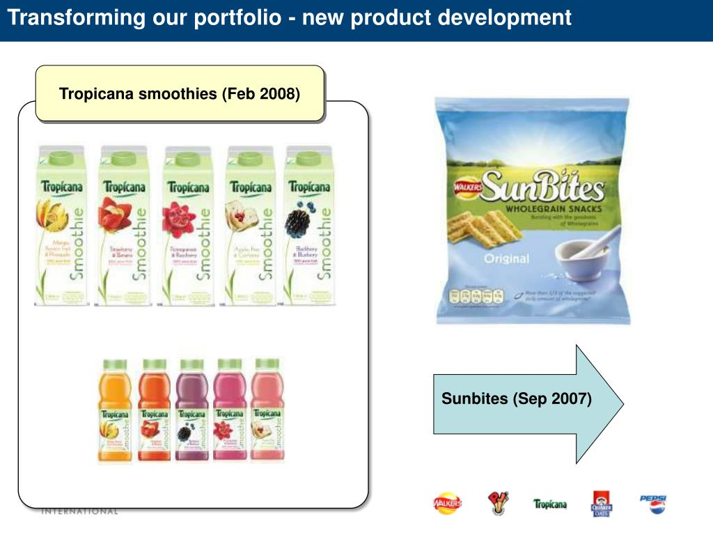 Transforming our portfolio - new product development