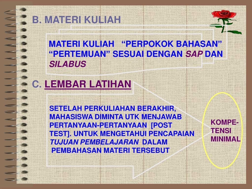 B. MATERI KULIAH