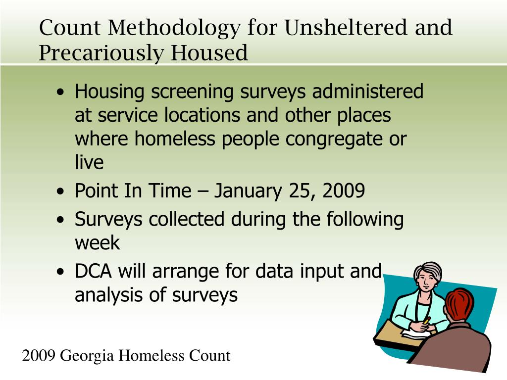 Count Methodology for Unsheltered and Precariously Housed