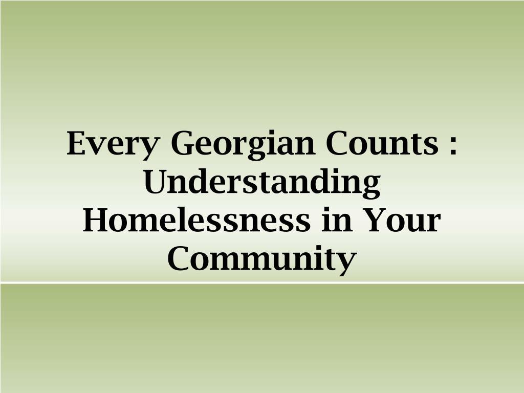 Every Georgian Counts :