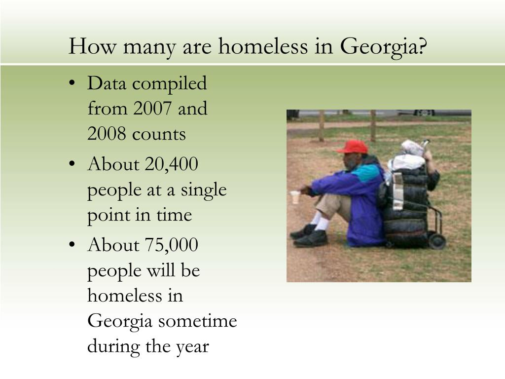 How many are homeless in Georgia?