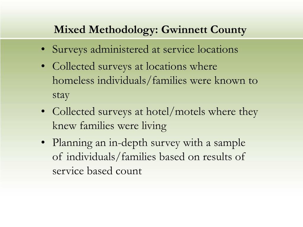 Mixed Methodology: Gwinnett County