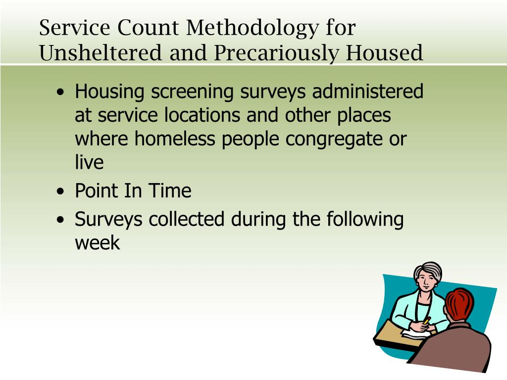 Service Count Methodology for Unsheltered and Precariously Housed