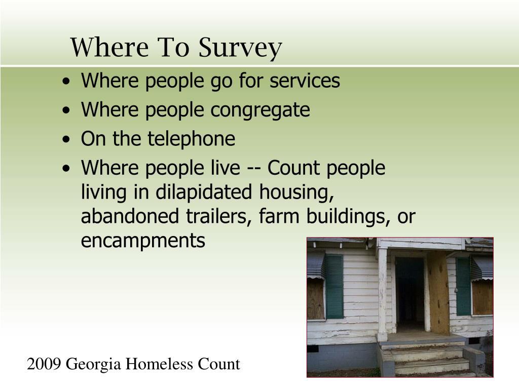 Where To Survey