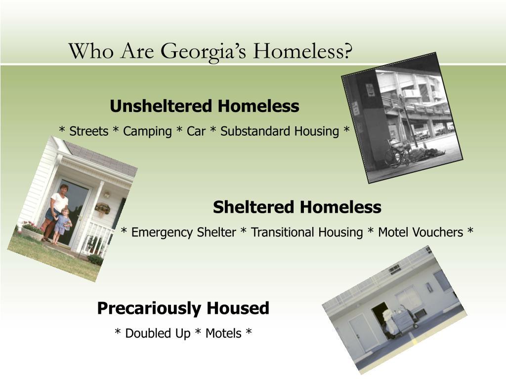 Who Are Georgia's Homeless?