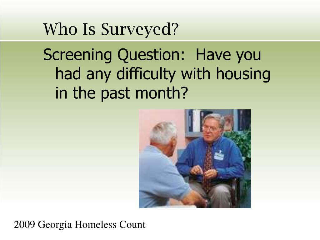 Who Is Surveyed?