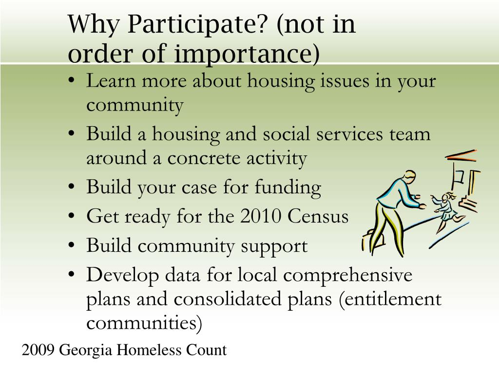 Why Participate? (not in order of importance)