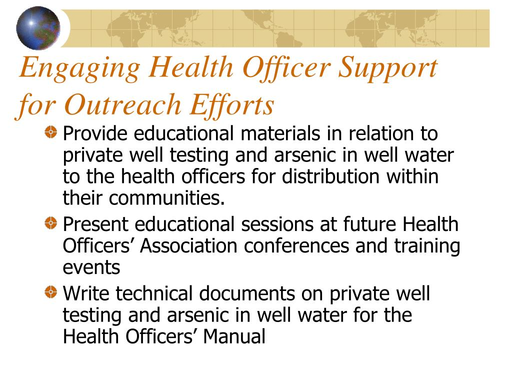 Engaging Health Officer Support for Outreach Efforts