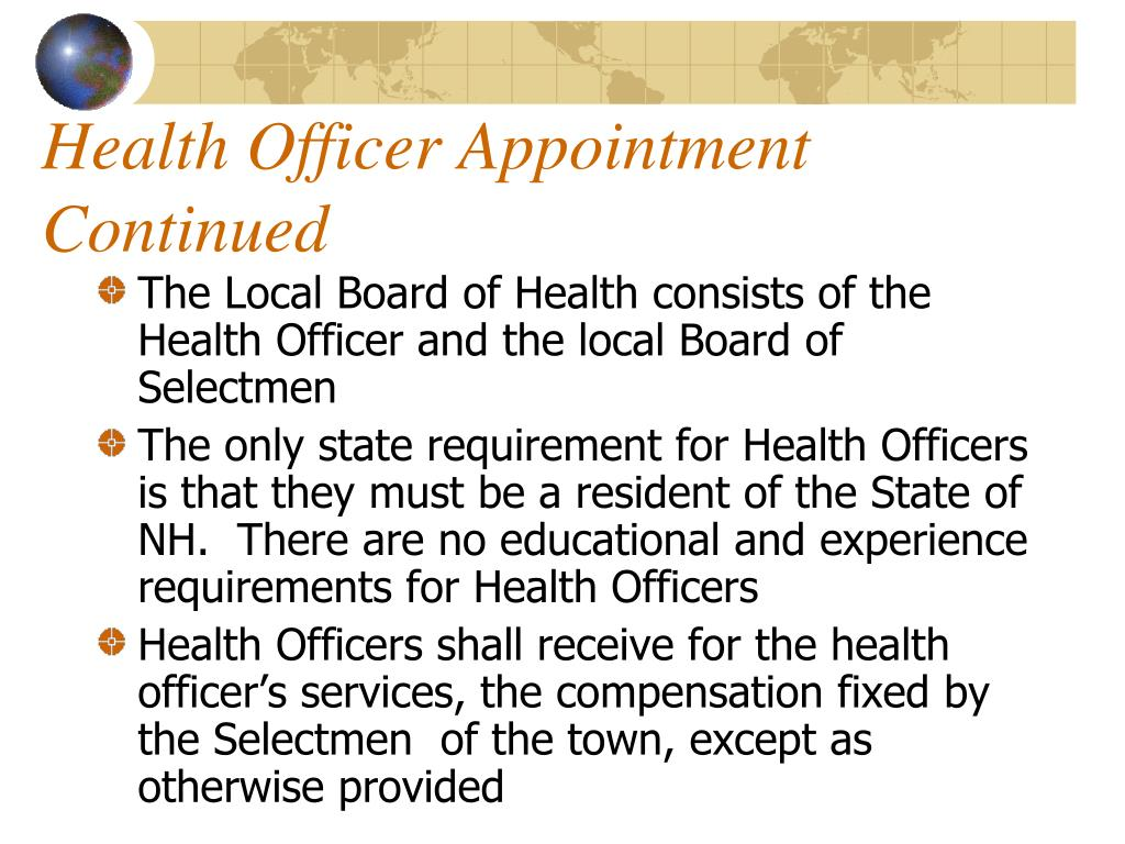 Health Officer Appointment