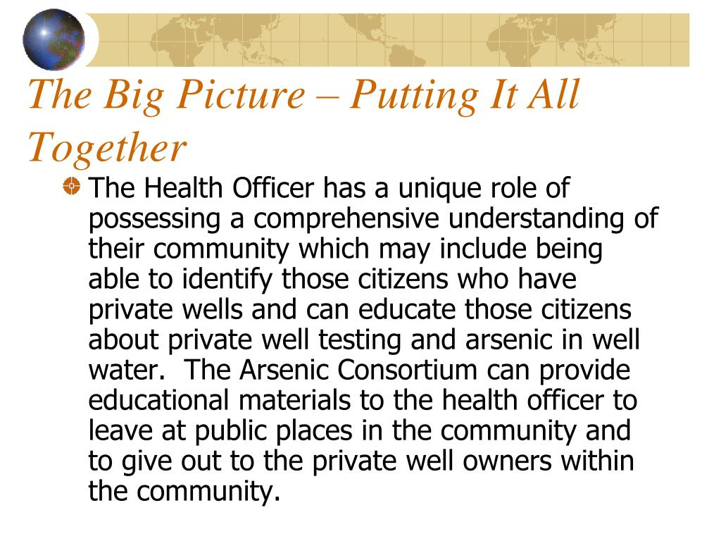 The Big Picture – Putting It All Together