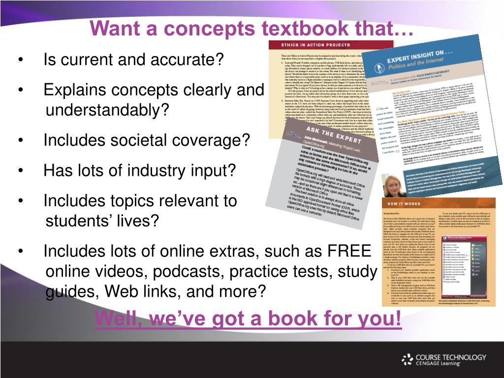 Want a concepts textbook that…