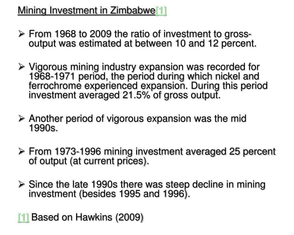 Mining Investment in Zimbabwe