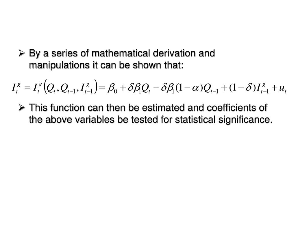 By a series of mathematical derivation and manipulations it can be shown that: