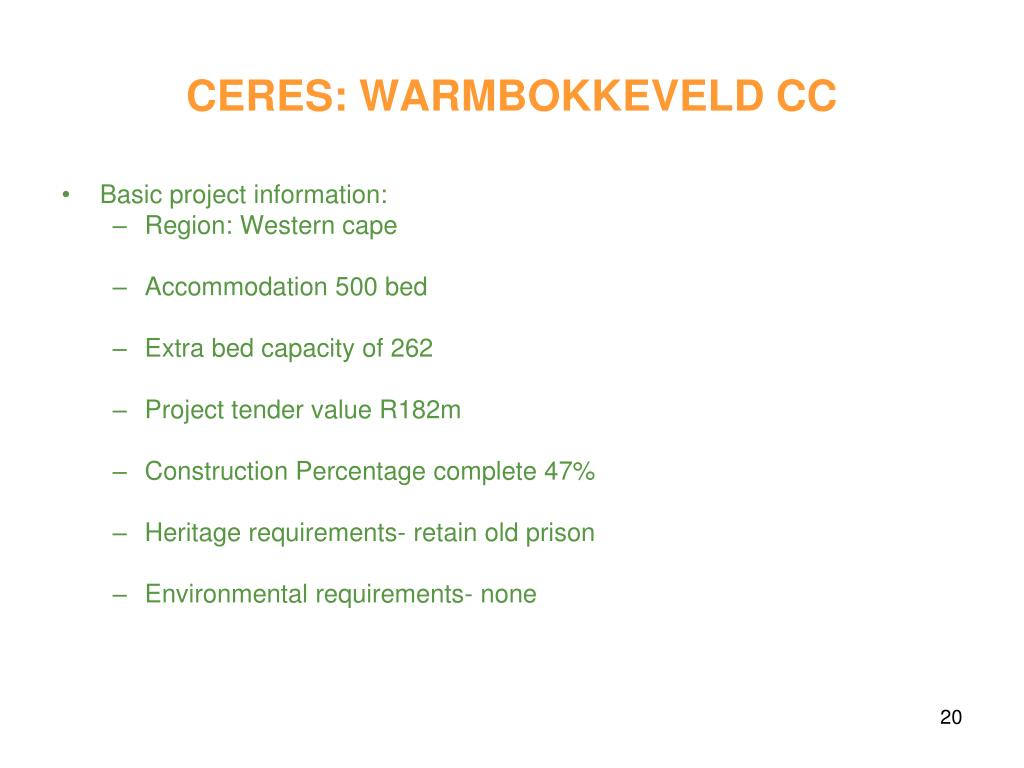 CERES: WARMBOKKEVELD CC