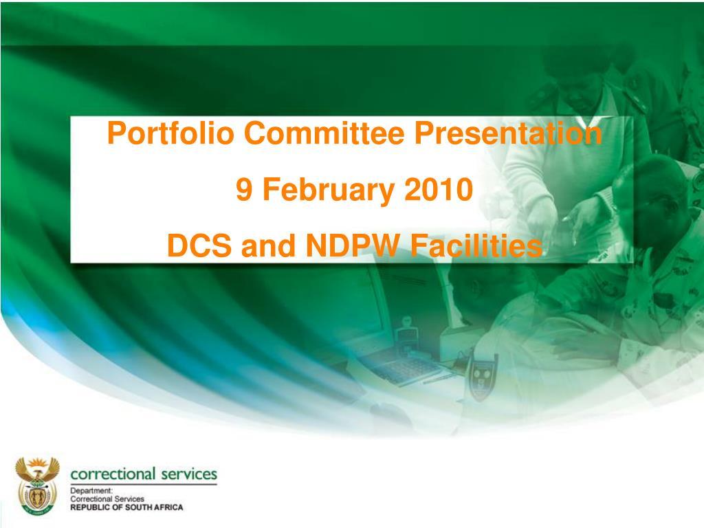 Portfolio Committee Presentation