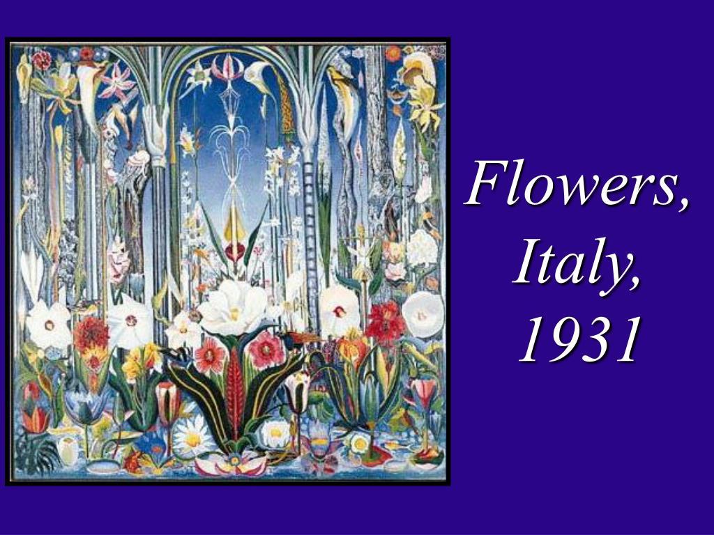 Flowers, Italy, 1931