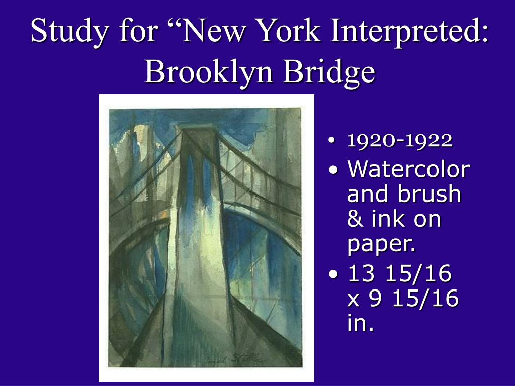 "Study for ""New York Interpreted: Brooklyn Bridge"