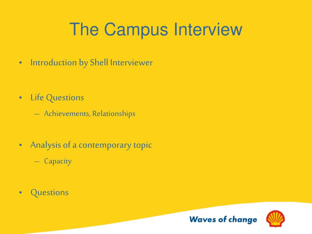 The Campus Interview