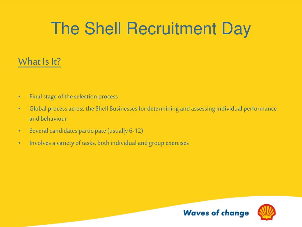 The Shell Recruitment Day