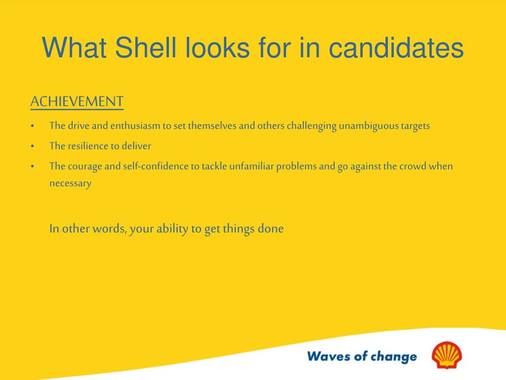 What Shell looks for in candidates