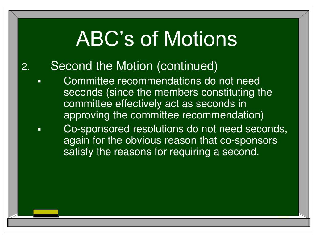 ABC's of Motions