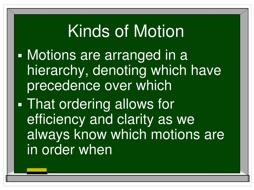 Kinds of Motion