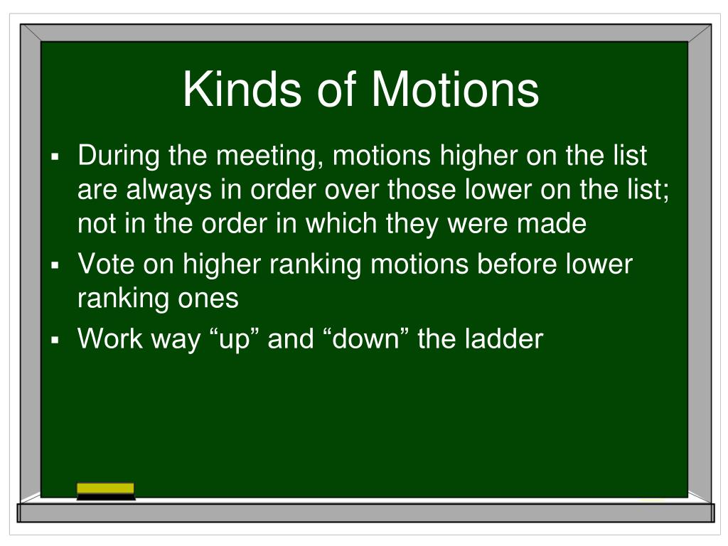 Kinds of Motions