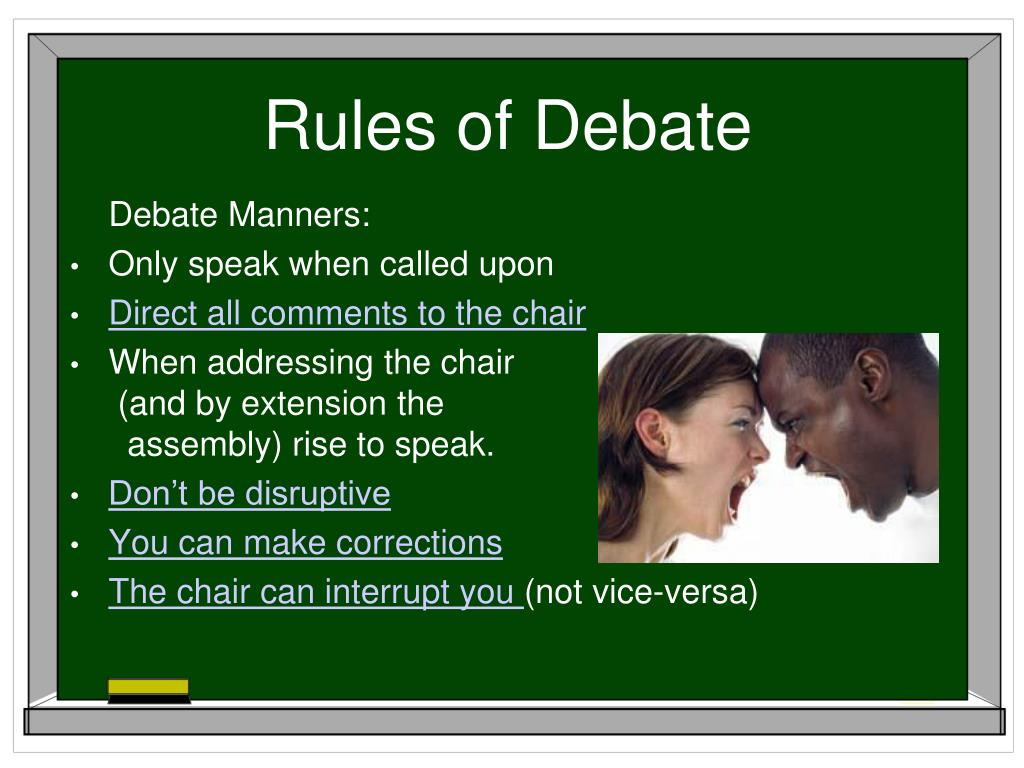 Rules of Debate