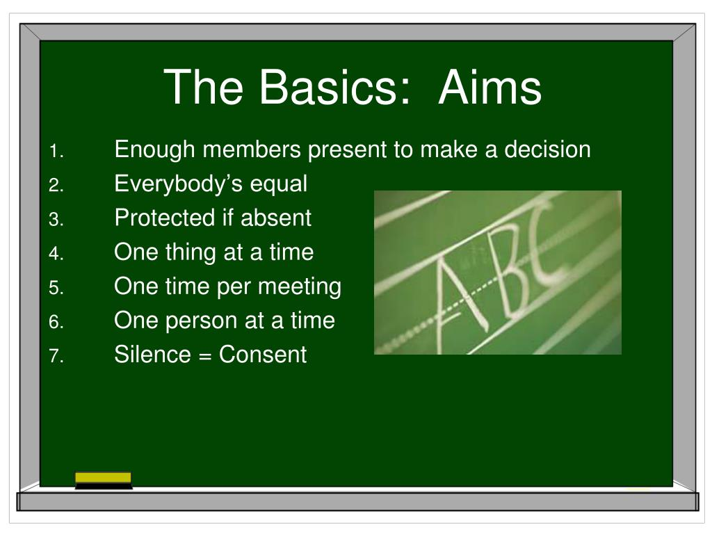 The Basics:  Aims