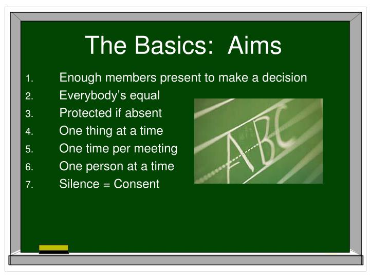 The basics aims
