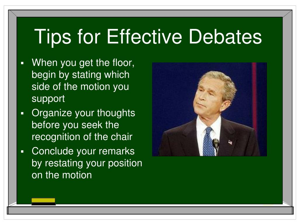 Tips for Effective Debates