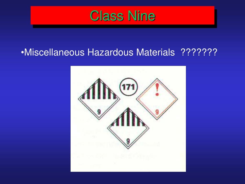 Class Nine