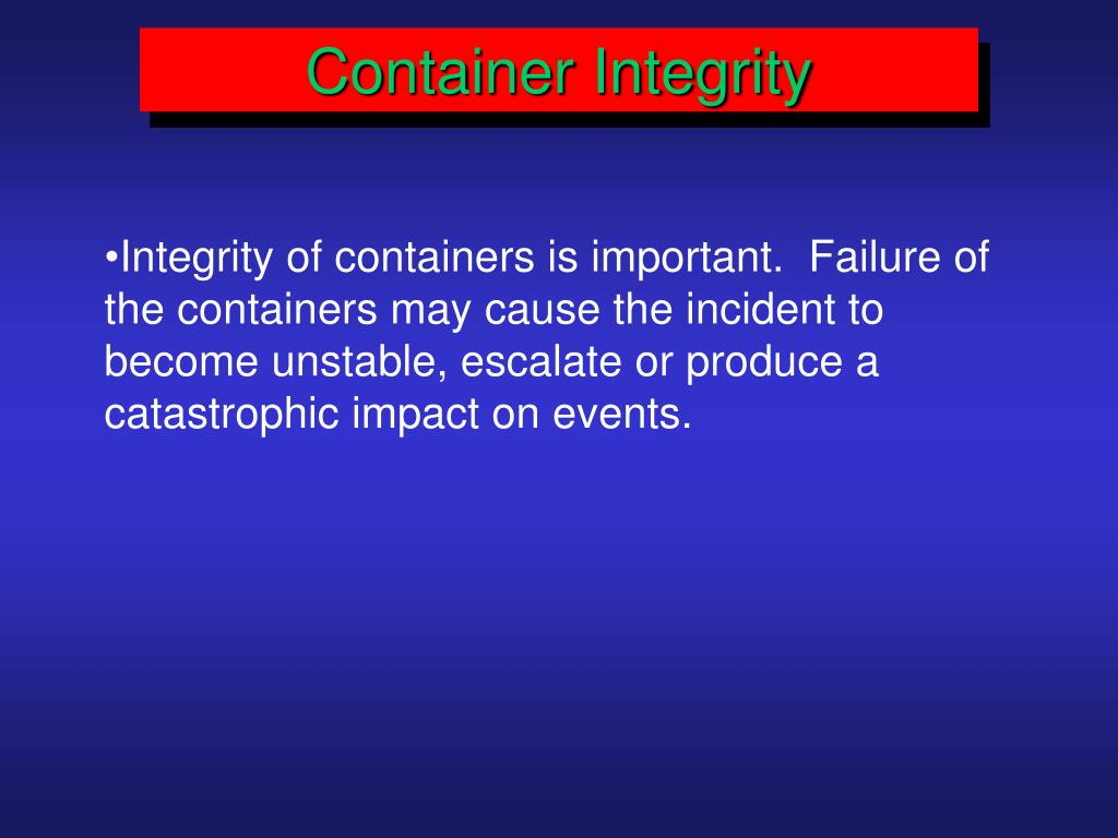 Container Integrity