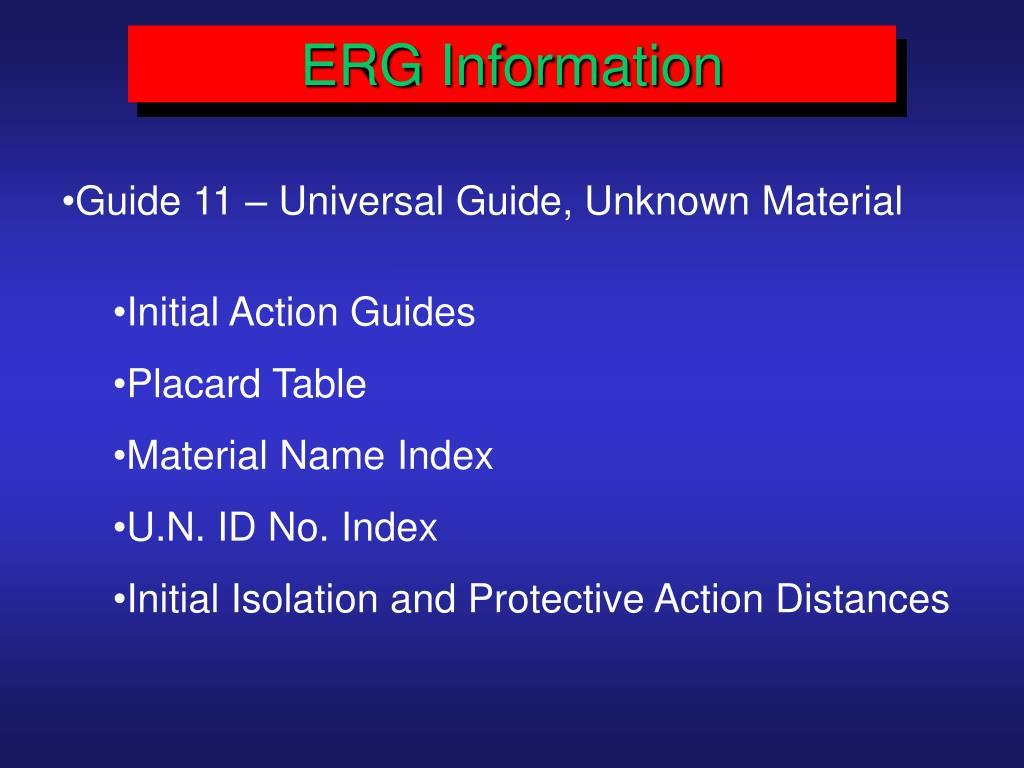 ERG Information