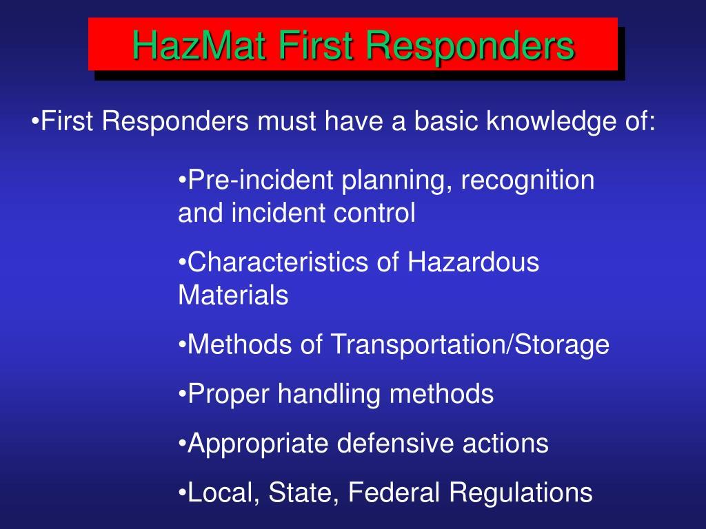 HazMat First Responders