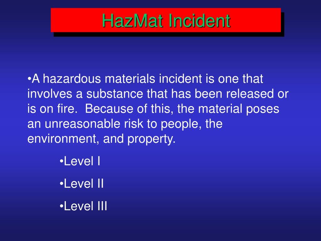 HazMat Incident