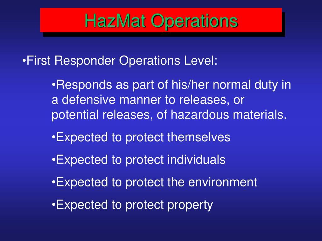 HazMat Operations