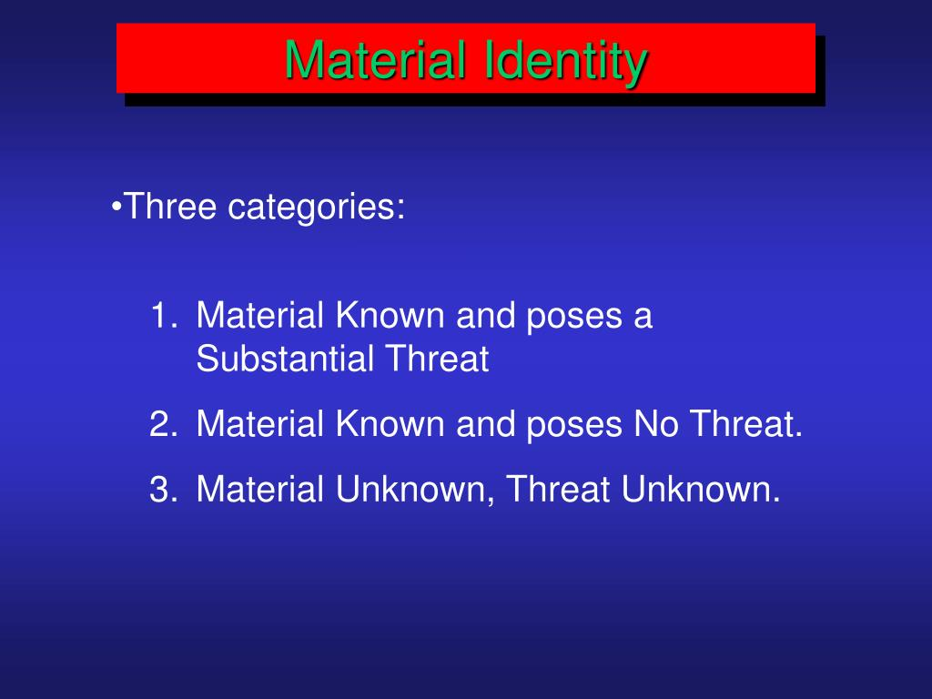 Material Identity