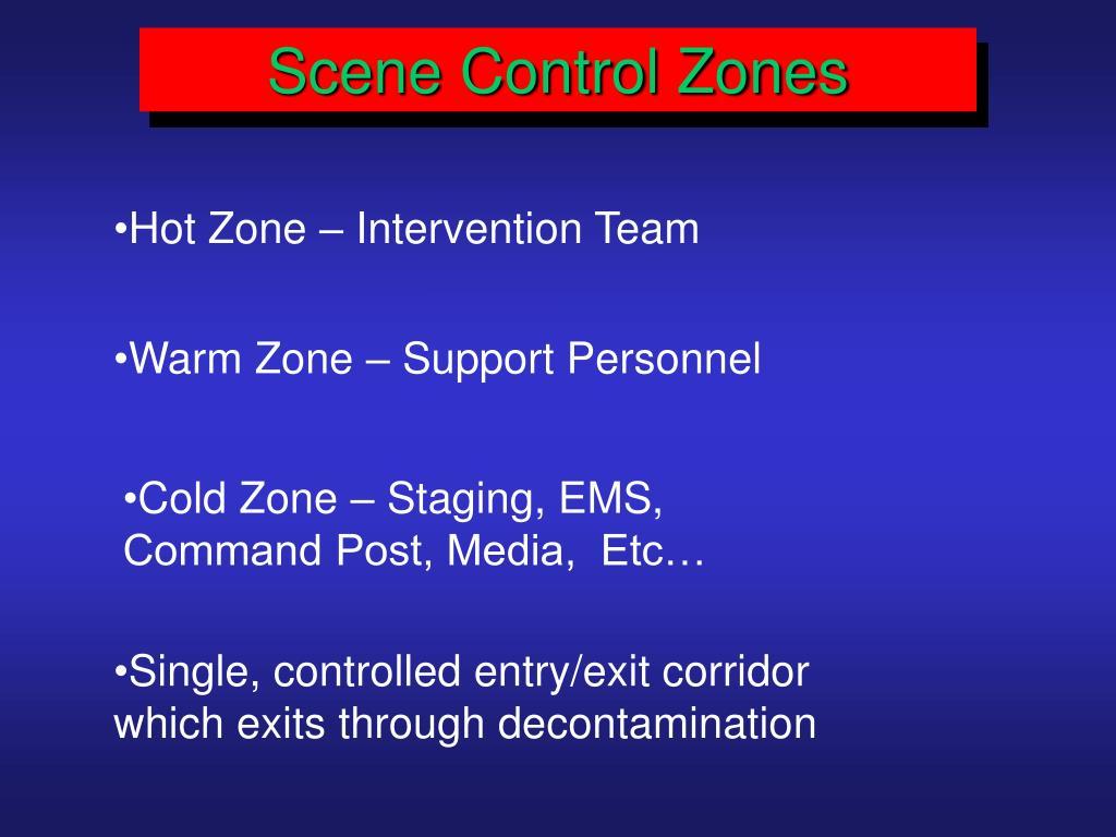 Scene Control Zones