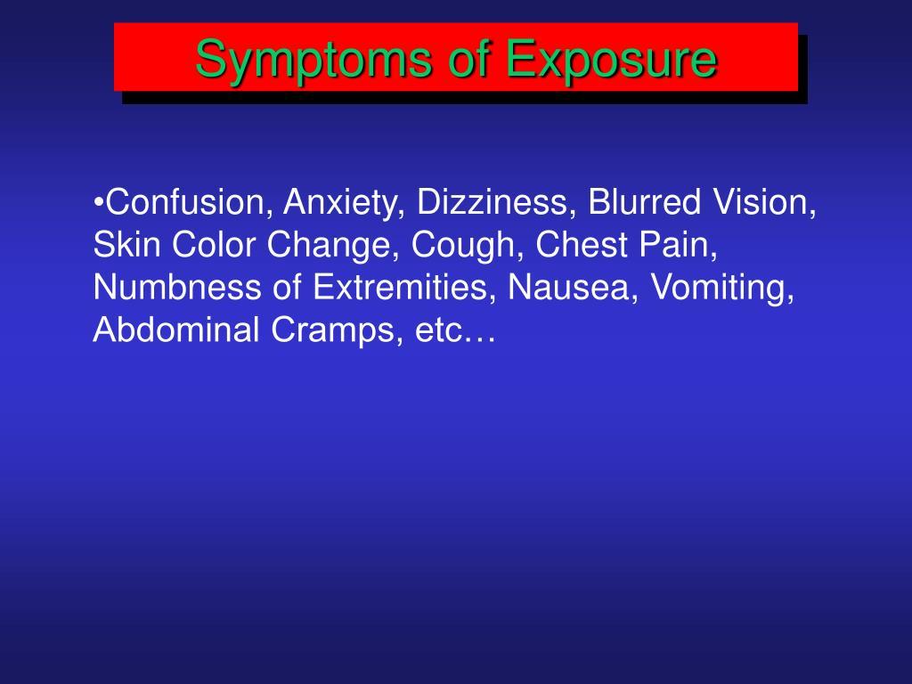 Symptoms of Exposure