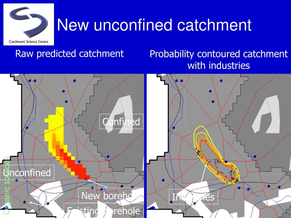 New unconfined catchment