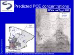 predicted pce concentrations