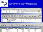 specific industry databases